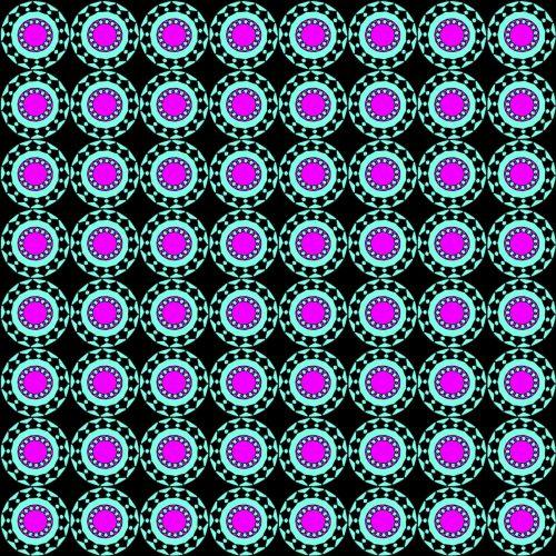Retro Circles Background Pattern