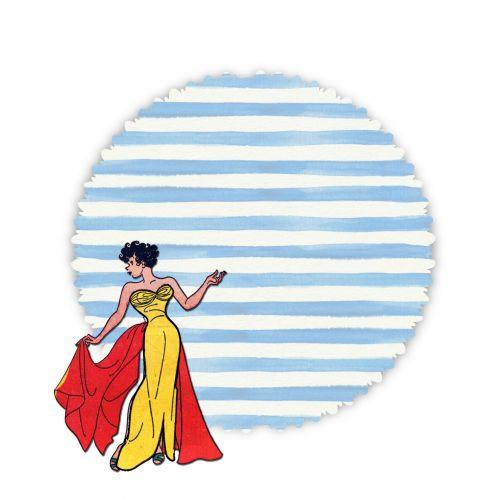 Retro Fashion Woman Clipart