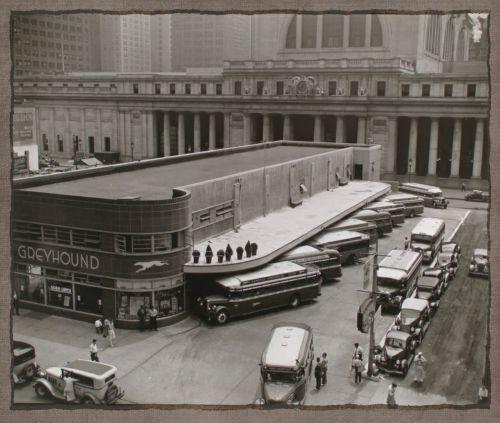 Retro Fifties Bus Station Photo