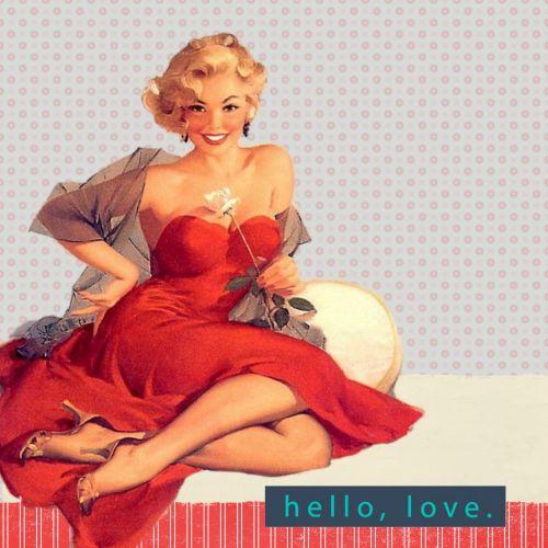 Retro Fifties Lady Art Collage