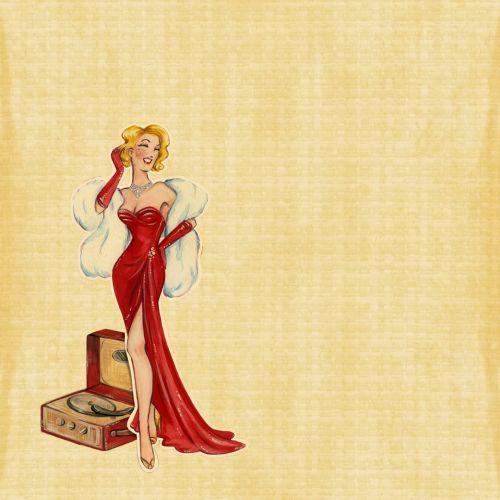 Retro Lady Red Dress