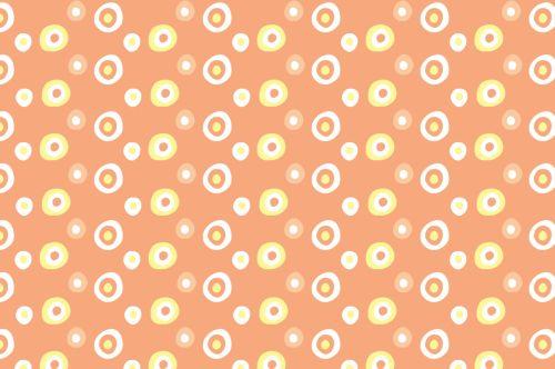 Retro Orange Background Pattern