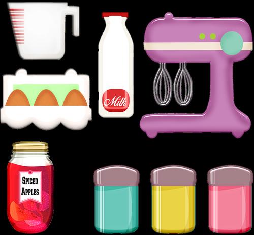 retro pink mixer  cooking  eggs