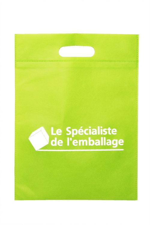 reusable bag bag non-woven cut-out handles
