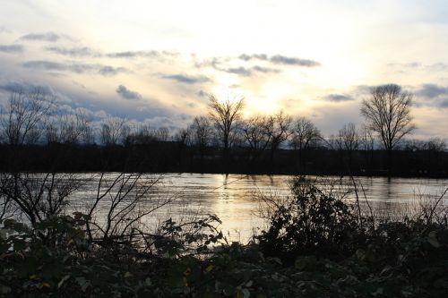 rhine river high water