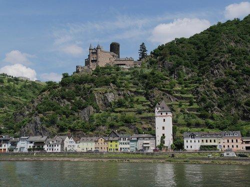 rhine  castle  katz