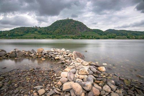rhine  dragon rock  siebengebirge