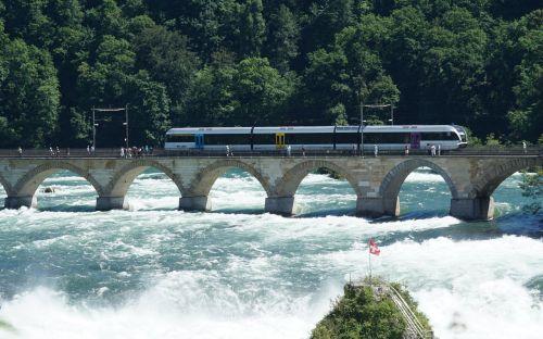 rhine falls high water schaffhausen