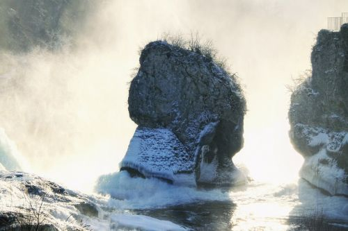 rhine falls switzerland waterfall