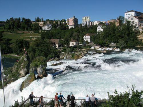 rhine falls waterfall rhine