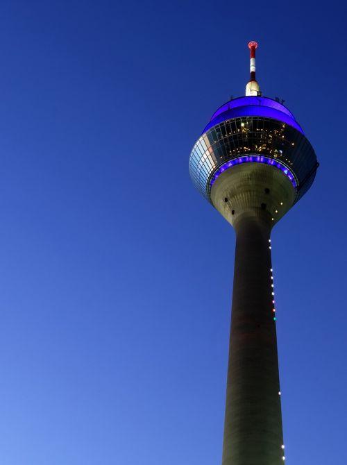 Reino bokštas,tv bokštas,transmisijos bokštas,vaizdas,orientyras,architektūra,radijo bokštas,Diuseldorfas,žiniasklaidos uostas