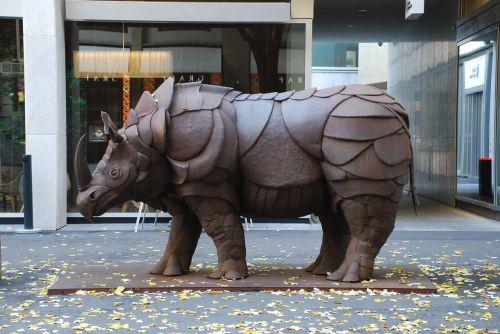 rhino monument art
