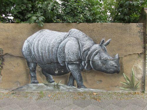 rhino wall art wall