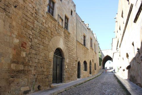 rhodes greece street