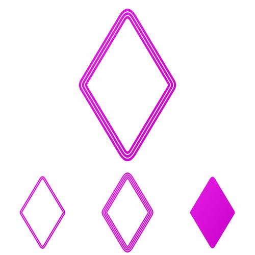 rhombus concentric magenta