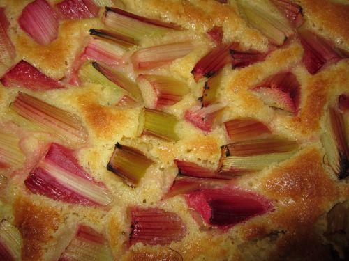 rhubarb cake pastries sweet