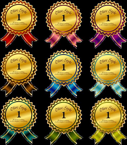 ribbon badge accolade