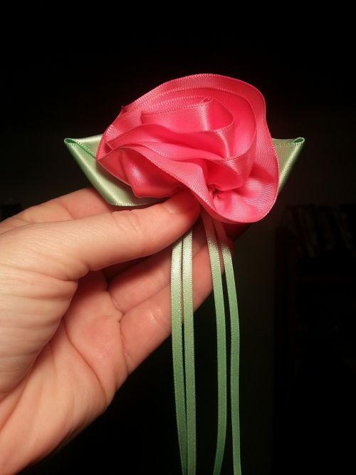 ribbon rose sewing
