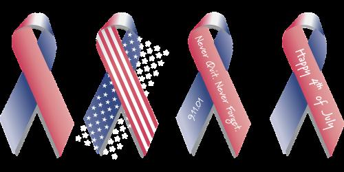 ribbon american flag background