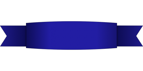 ribbon banner blue
