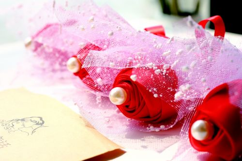 ribbon flower ribbon rose gift flowers