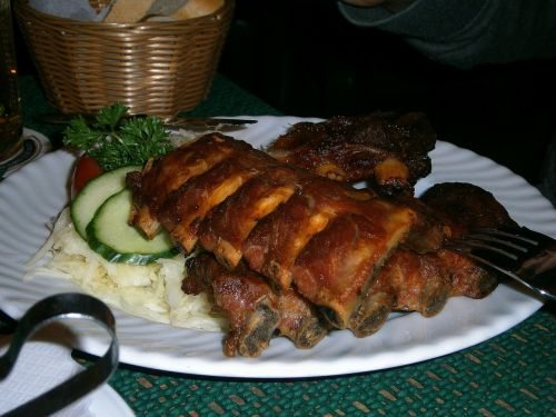 ribs peeling ribs pig