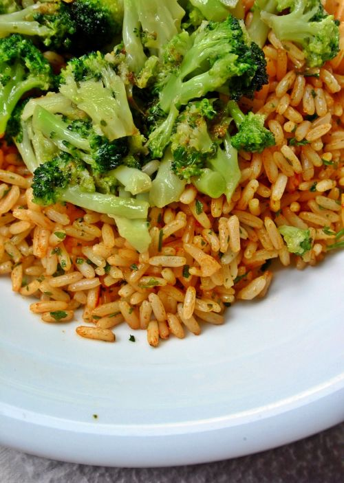 rice vegetables broccoli