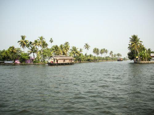 rice boat backwaters kerala