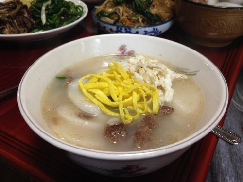 rice cake soup new year's day feast