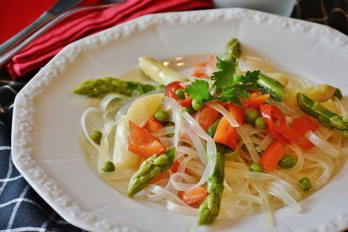 rice noodles noodles pasta salad