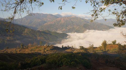 ryžių terasa,debesys,ryžiai,kraštovaizdis,kalnas,žalias,Žemdirbystė,laukas,paddy,slėnis,gamta,žemė,kelionė,terasa,plantacija,terasos,Vietnamas,vanduo,ūkininkavimas,kaimas,kaimas,lauke,kaimas