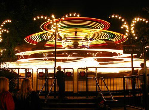 važiuoti,Kopenhaga,denmark,parkas,tivoli,pramogos,rekreacinė,naktis