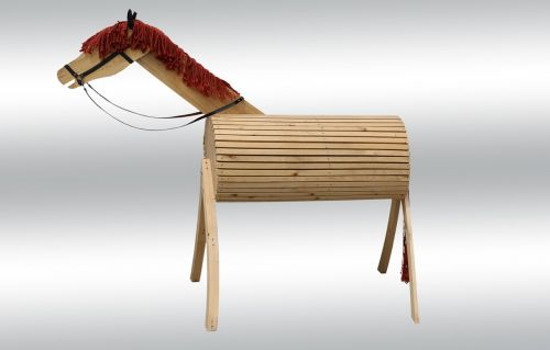 ride horse wooden horse
