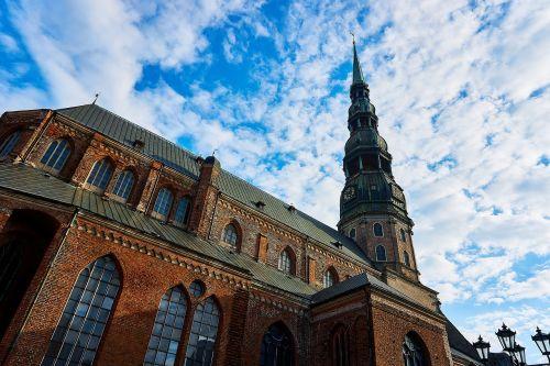 riga,latvia,Senamiestis,Rygos senamiestis,pastatas,St Peterio bažnyčia,istoriškai,istorinis senamiestis,bažnyčia