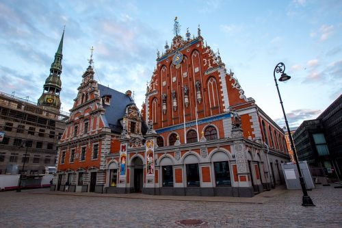 riga the house of the blackheads town hall square