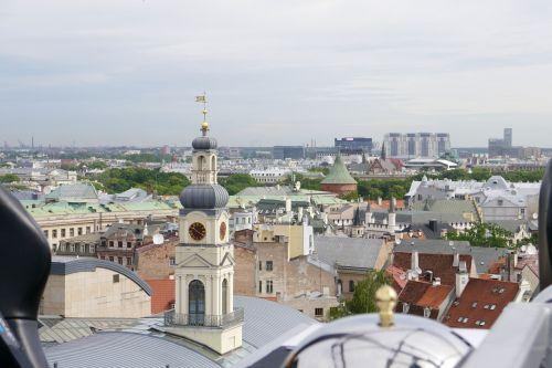 riga rooftops church