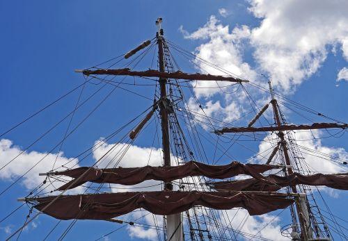 rigging brahmsegel tall ship