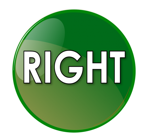 right button green