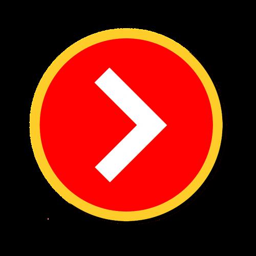 right arrow web design clipart