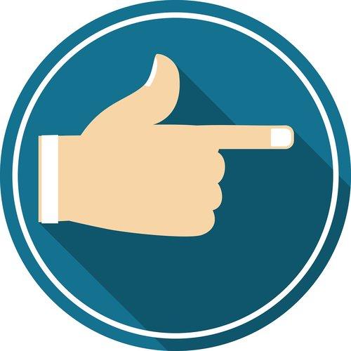 right arrow  hand  icon