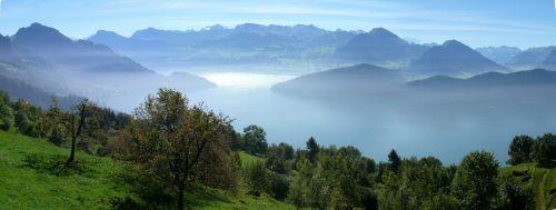 rigi panorama lake lucerne region