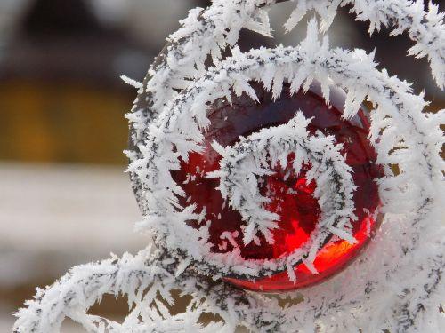rime glass globe frost