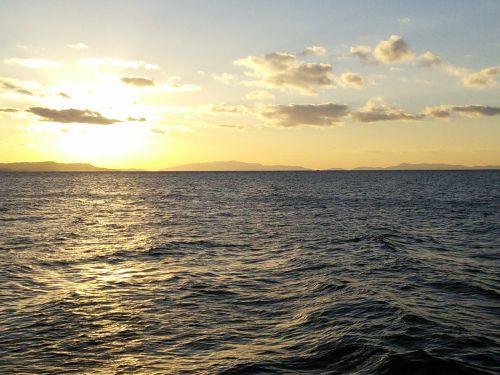 rin rinku town sunset sea