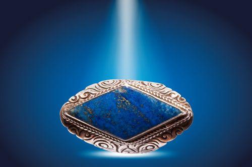 ring silver lapis lazuli