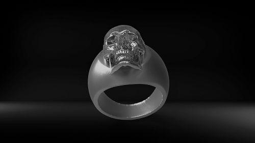 ring silver skull and crossbones