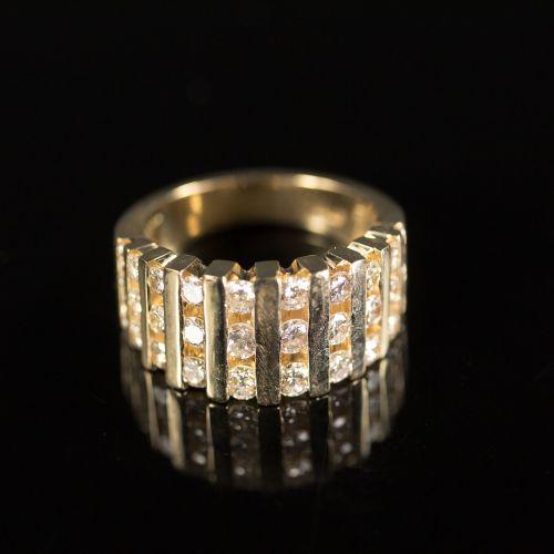 ring diamond gold
