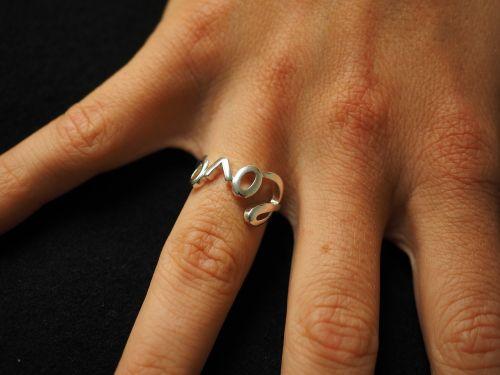 ring finger ring silver
