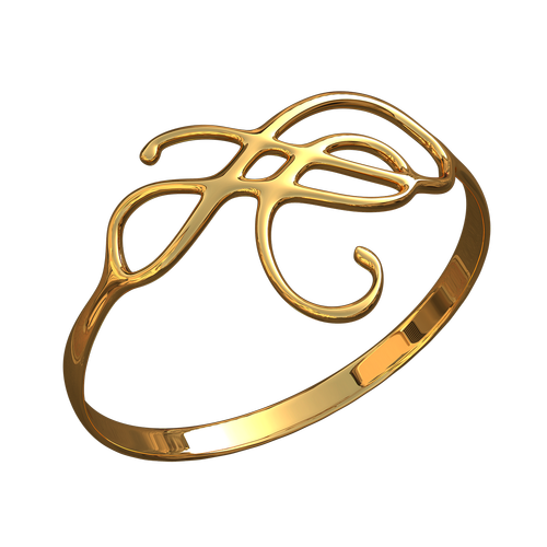 ring with ornament  ornament  gold