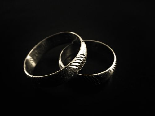 rings marriage silver