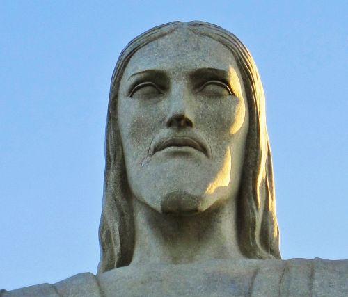 rio de janeiro head of cristo redentor christ the redeemer statue